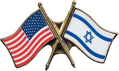 FREE U.S.-Israel flag pin
